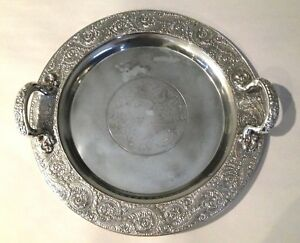 Vintage Meriden B Company Quadruple Plate Tray With Handles