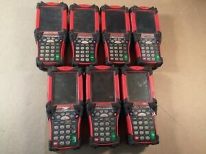Lot Of 7 Symbol Motorola Coca Cola Barcode Scanner Handheld Mobile Computer Pc