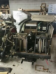 Original Heidelberg Windmill 10x15 Letterpress Platen Press In South Bend In