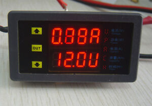 Newest 10v 75v 10a Dc Battery Monitor Meter Voltmeter Amp Meter With Protection