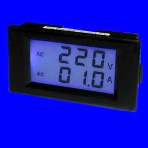 10pcs Ac100 300v 0 50a Digital Double Display Panel Volt amp Meter