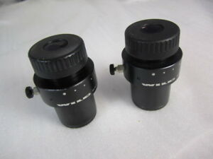 Wild Microscope 10x 21 Focusable Eyepieces 30mm one Pair In Great Shape