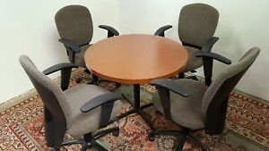 National Kimball Round Laminated Conference Table