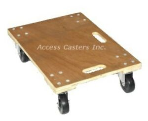 Dh42317 23 5 8 X 17 3 4 Heavy Duty Wood Furniture Dolly 700 Lbs Capacity