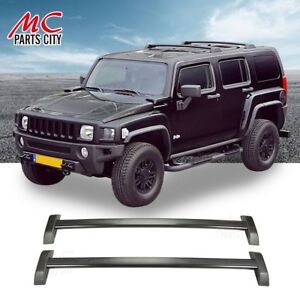 For 06 10 Hummer H3 H3t Oe Style Sliver Roof Rail Rack Cross Bar Luggage Carrier