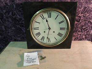 Antique Seth Thomas 1920 8 Day Wind Up Gallery Wall Clock 16 Working With Key
