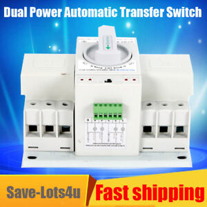 1x Dual Power Automatic Transfer Switch 230v 63a 3p 50hz 60hz Cb Leve L Manual