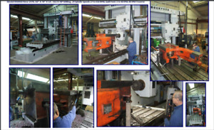 1978 Rmh60 Rockford Double Housing Adjustable Rail Milling Machine