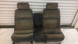1987 1996 Dodge Dakota Truck Front Bucket Seats Set Jump Seat With Headrests
