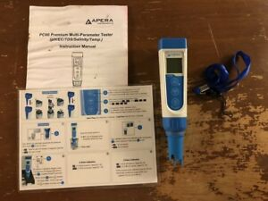 Apera Instruments Pc60 Premium 5 in 1 Waterproof Multi parameter Pocket Tester