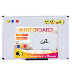 Viz pro Magnetic Whiteboard dry Erase Board Includes 4 Erasers