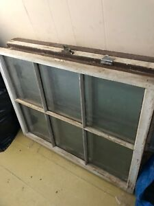 Vintage Antique Primitive Old Windows Glass Wood Frames 6 Pane Crafting