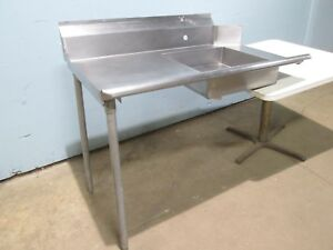 Heavy Duty Commercial 100 S s Left Side Dirty Dish Washing Table W rinse Sink