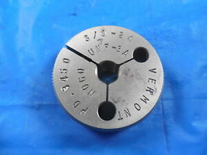 3 8 24 Unf 3a Vermont Thread Ring Gage 375 No Go Only P d 3450 Inspection
