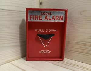 New Rare Faraday 10123 1 Fire Alarm Pull Station With Key Vintage