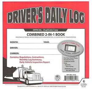 10 Pack 2 in 1 Jj Keller Drivers Daily Log Book 8541 615l Carbon Simplified Dvir
