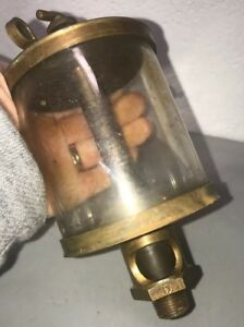 Powell Co Puritan 5 Brass Oiler Hit Miss Gas Engine Antique