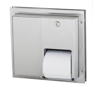 Partition Mounted Stainless Steel Toilet Paper Dispenser 5422