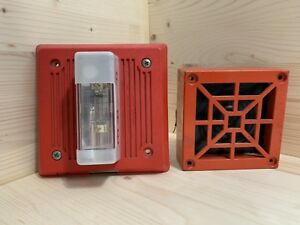 Lot Of 2 Wheelock Eh dl1 And Wheelock 34 12 Fire Alarm Horn Strobe