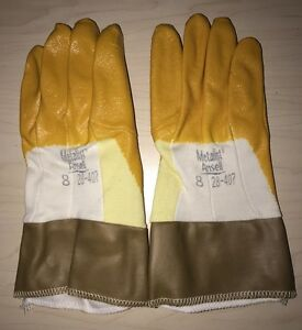 Ansell 28 407 Metalist Gloves Nitrile Coated Palm Size 8 Bag 12 Pairs