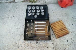 C r Eng r Co Face Mill Angle Cutter Set With Case Made In Cedar Rapids Ia Usa