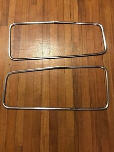 1951 Hudson Hornet Pair Of Rear Window Trim Chrome Molding Parts