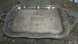 Silver Plated Tray Platter Tray Vintage Tray Collectible Home Decor
