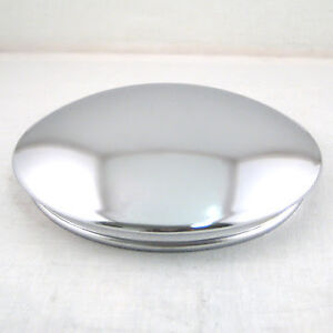 Chrome Reverse Baby Moon Hubcap 7 Center Cap For Chevy Rally Wheels Set Of 4