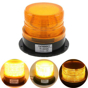 12v 24v Flashing Strobe Beacon Led Warning Emergency Light Bulb Car Amber Lamp