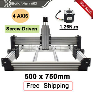 Workbee Cnc Router Kit 500x750mm Wood Engraver Milling Machine Kit With Motors