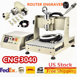Cnc 3040 Router Engraver Milling Machine Engraving Cutting 400hz Water cooling