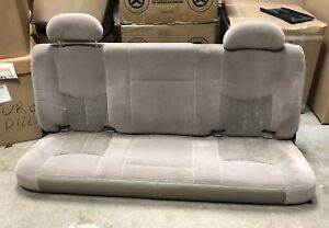 99 06 Chevy Silverado Gmc Sierra Extended Cab Rear Tan Cloth Bench Seat