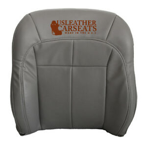 2003 2004 Jeep Grand Cherokee Driver Lean Back Synthetic Leather Seat Cover Gray