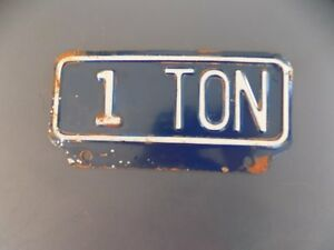 1 Ton Truck License Plate Topper Tag Ford Chevy Dodge Rat Rod