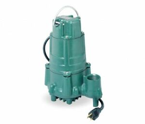 N140 Zoeller 1 Hp Submersible Sewage Sump Pump 115v 1 1 2 Nib Brand New