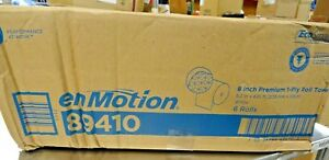 Georgia Pacific 89410 Enmotion 1 ply Paper Towel Rolls 8 2 X 425 Ft 6 Case New