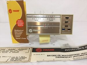 Vintage Trane Bay28x138 3aat80a1a1 Weathertron Automatic Heat Pump Thermostat