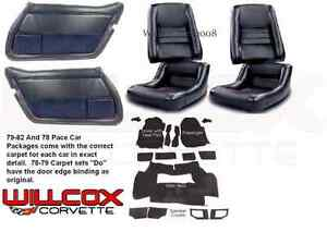 1979 1982 Corvette Interior Package Mounted Leather Seats Carpet