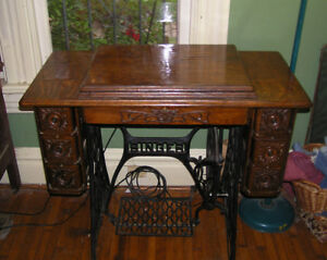 1920s Antique Singer Cabinet W 1347 Kenmore Sewing Machine