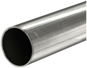 304 Stainless Steel Welded Round Tube Od 2 250 Wall 0 065 Length 60