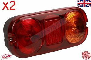 For 2x Jcb 3cx Project 12 And 21 Rear Tail Lamp Light Lenses 700 50024