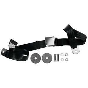 Mustang Seat Belt With Chrome Lift Latch Black 1965 1973