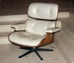 Leather Charles Eames Herman Miller Mid Century Lounge Sviwel Chair Mod 670