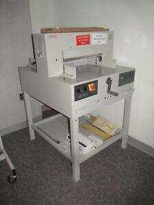 Triumph 4850 Electric Paper Cutter 18 625 With Spare Blade Exc