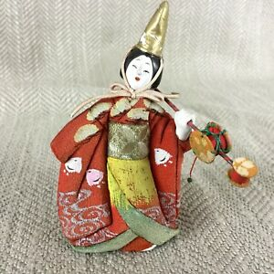 Vintage Japanese Doll Model Geisha Gofun Clay Silk Nihon Ningyo