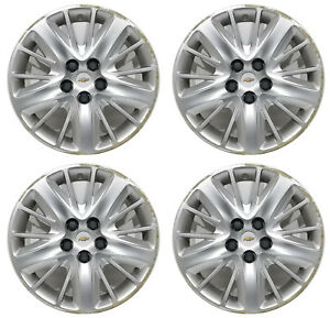 4 Oem 2016 Chevy Impala 18 Hubcaps Wheel Covers 3299 Used Condition