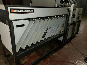 Bourg Ae10 Collator W Air Assist Agr Stitcher Pa Folder
