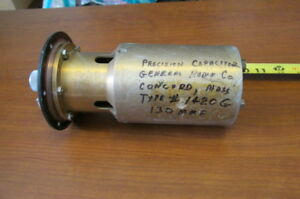 General Radio Co Precision Capacitor Type 1420g 130 Mmf 89 753297 1 0 250