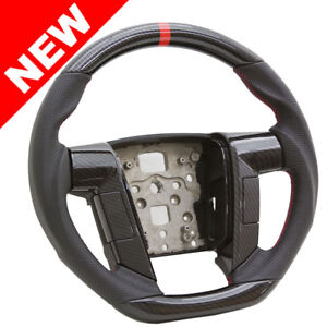 Handkraftd 2011 2014 Ford F150 Steering Wheel Black Leather W Hydro Carbon