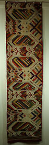 Antique Southeast Asian Textile Pha Biang Shawl Woven By T Ai Nuea 53x13 5